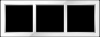 "Трехпостовая рамка белая CGSS ""Практика""PL-P103-WCG"