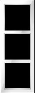 "Трехпостовая вертикальная рамка белая CGSS ""Практика""PL-VP103-WCG"