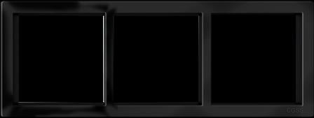 """Трехпостовая рамка черная матовая CGSS """"Практика"""" PL-P103-BCM"""
