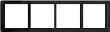 """Четырехпостовая рамка черная матовая CGSS """"Практика"""" PL-P104-BCM"""