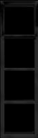 """Четырех постовая  вертикальная рамка черная матовая CGSS """"Практика"""" PL-VP104-BC"""