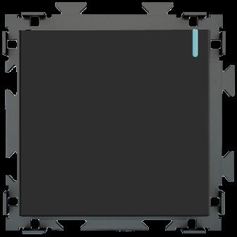"""Одноклавишный переключатель проходной черный матовый """"Практика"""" CGSS  PL-W101-PBCM"""