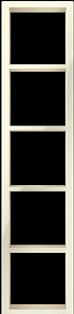 "Пятипостовая вертикальная  рамка бежевая  CGSS ""Практика"" PL-VP105-BGG"