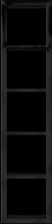 "Пятипостовая вертикальная рамка черная матовая CGSS ""Практика"" PL-VP105-BCM"