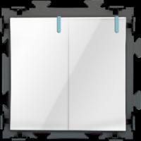 """Двухклавишный  белый выключатель  """"Практика"""" CGSS  PL-W102-WCG"""