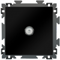 "Розетка спутниковая SAT черная матовая CGSS ""Практика"" PL-W201S-BCM"