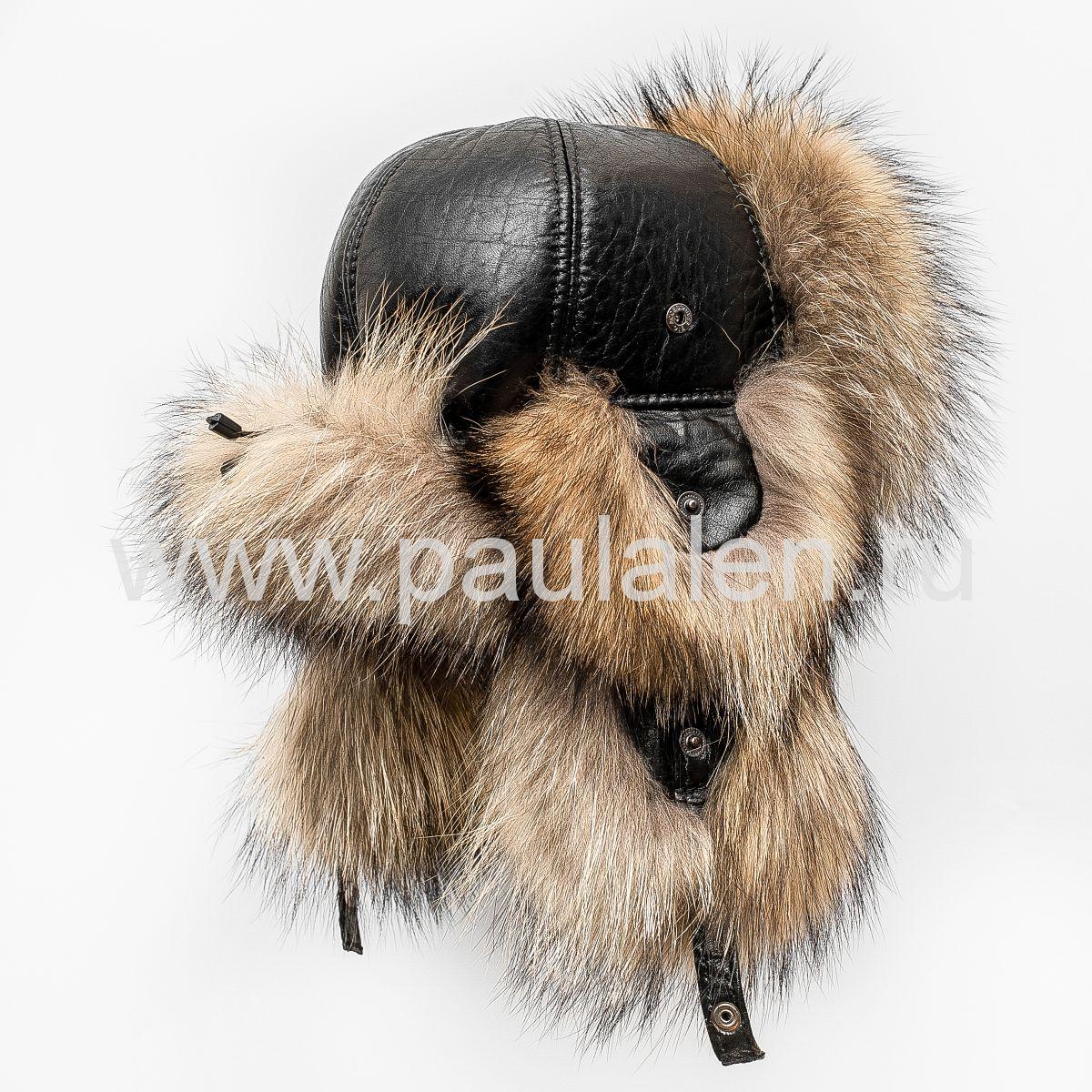 Меховая шапка из енота