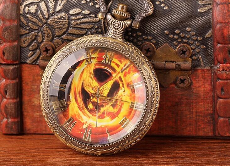 Часы-кулон WN-255 Сойка пересмешница (Голодные Игры)