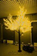 """Светодиодное дерево """"Сакура"""" высота 1,5м, диаметр кроны 1,8м, желтые светодиоды, IP 54, понижающий трансформатор в комплекте, NEON-NIGHT"""