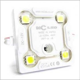 Светодиодные модули ECO4 NEW (Южная Корея) 4-х диодные  белые с линзой.