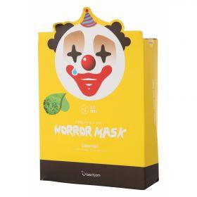 Berrisom animal mask Horror mask Green tea Pierrot - Маска тканевая с зеленым чаем