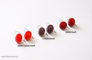 """Серьги """"Матовая фантазия"""", 3 цвета, муранское стекло"""