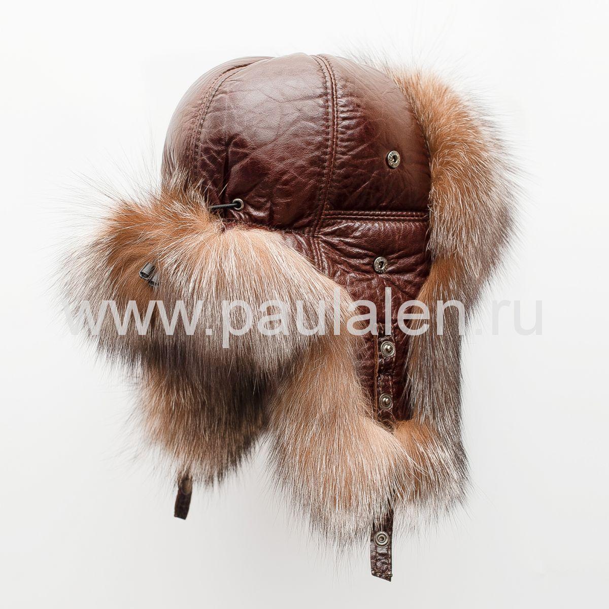 Шапка из чернобурки зимняя женская