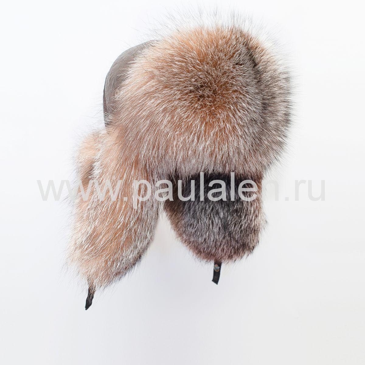 Женская меховая шапка из меха чернобурки (A017)