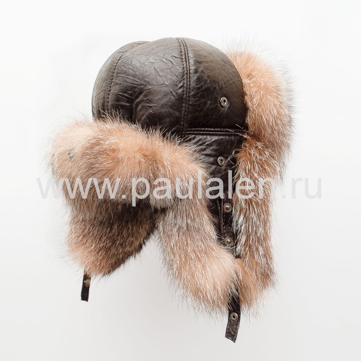 шапка ушанка женская из чернобурки
