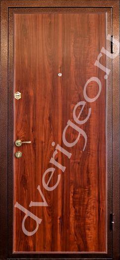 металлические двери ламинат
