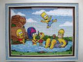 Схема для вышивки крестом Симпсоны. Отшив