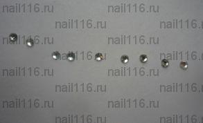 Стразы для ресниц серебро 10 шт. в пакете