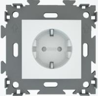 Розетка электрическая белая  CGSS W160A WC