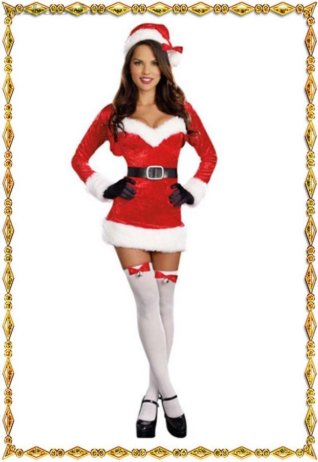 Новогодний костюм Игривая Снегурочка
