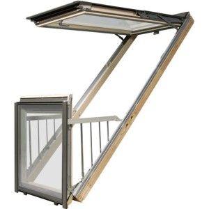 Мансардное окно-балкон FGH-V P2 Galeria