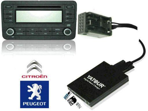 MP3 USB адаптер YT-M06  Citroen Peugeot RD4