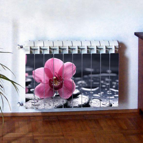 """Фотодекор для радиатора отопления """"Цветы 0004"""""""