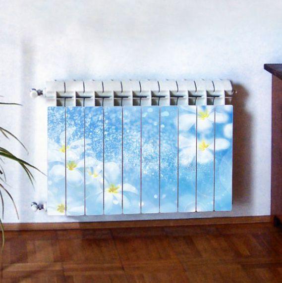 """Фотодекор для радиатора отопления """"Цветы 0007"""""""