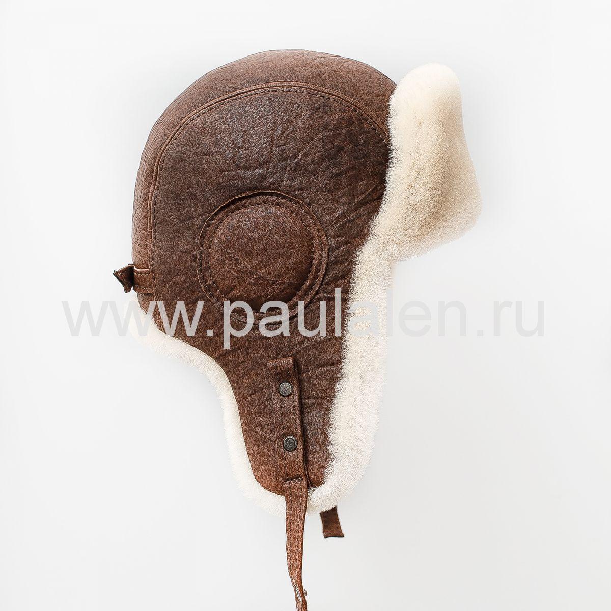 Мужская меховая шапка Авиатор