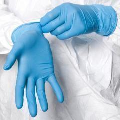 Перчатки нитриловые  (EN1 голубые ) Размер S