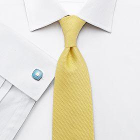 Мужская рубашка под запонки белая Charles Tyrwhitt приталенная Slim Fit (FE208WHT)