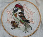 Схема для вышивки крестом Джек воробей. Отшив
