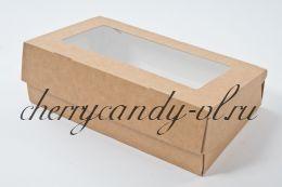 Коробка картонная ECO TABOX  с окном,  12*4*20 см