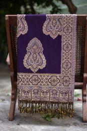 Фиолетовый хлопковый палантин (под заказ)