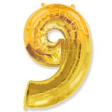 "Фигура ""9""  (40""/102 см) золото"