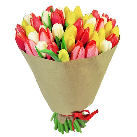 Букет 45 тюльпанов