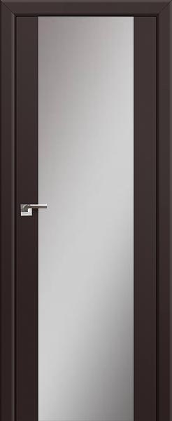 Межкомнатная дверь Профильдорс 8U Тёмно-коричневый, зеркальный триплекс