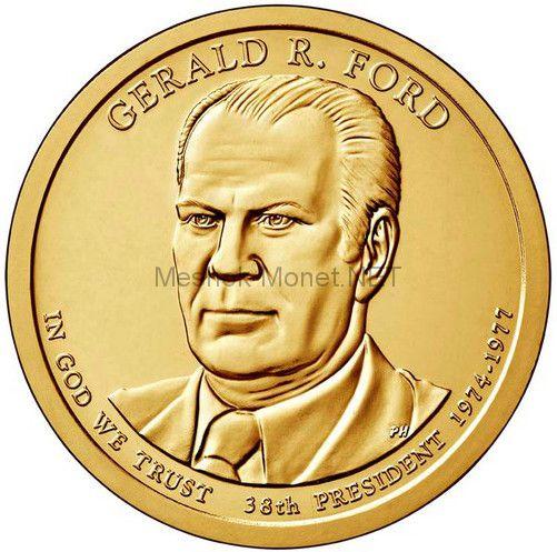 1 доллар США 2016 год 38 Президент Джеральд Форд (Gerald Ford)