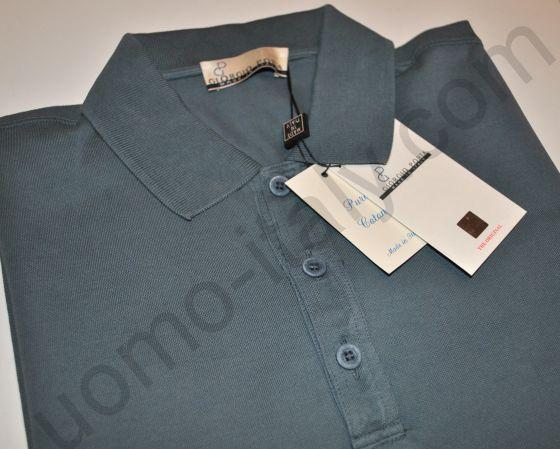 Рубашка-поло короткий рукав вареная сталь (последний размер 48)