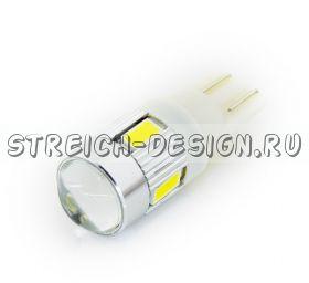 Светодиодная лампа T10 6SMD 5630 белая 12V