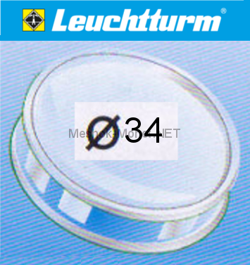 Капсула для монеты Leuchtturm 34 мм, упаковка 10 шт