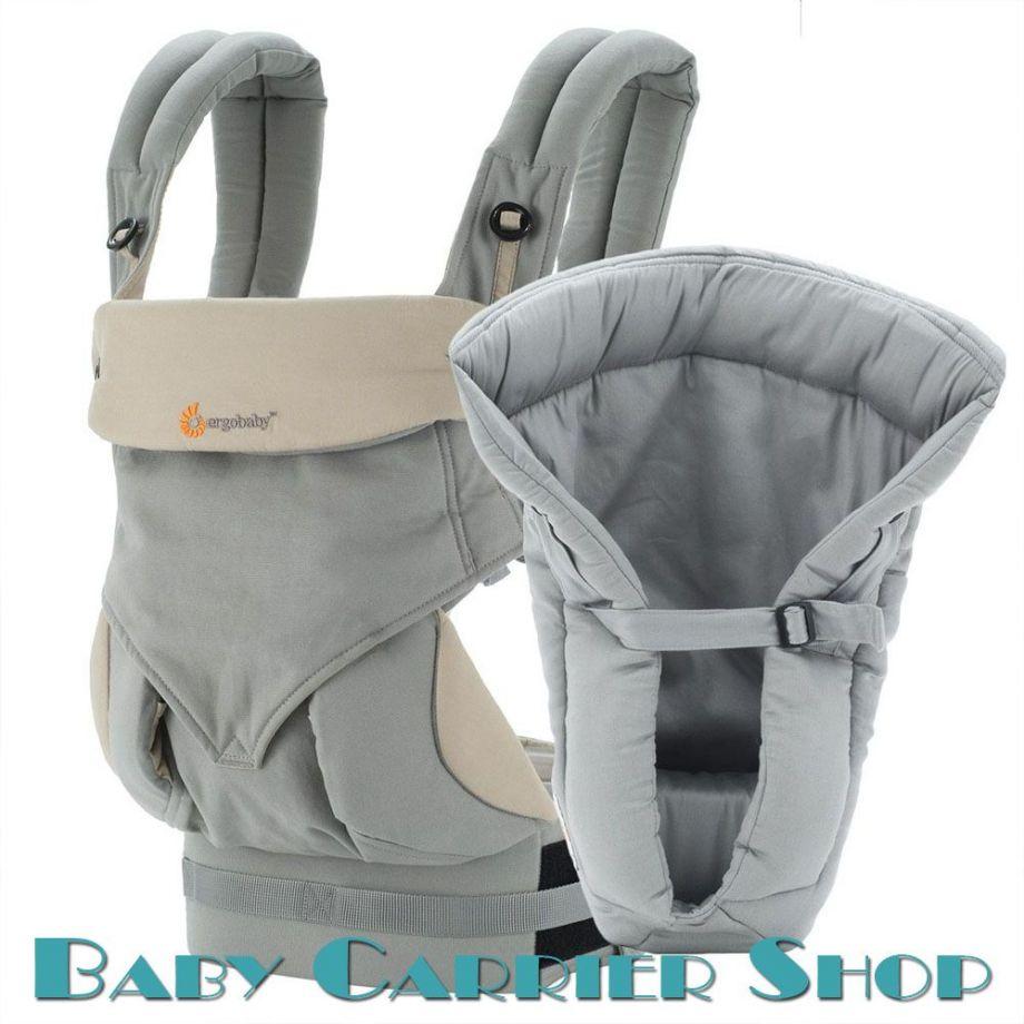 Комплект для новорожденного ERGO BABY CARRIER Bundle of Joy Four Position 360 Слинг-рюкзак «Grey» + Вставка  «Infant Insert Heart2Heart Grey» [Эрго Беби BCII360AGRY набор эргорюкзак+вставка Серый]