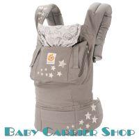 Слинг-рюкзак ERGO BABY CARRIER Эргорюкзак для переноски малышей «Galaxy Grey Original» [Эрго Беби BC2EPNL слингорюкзак Галакси Грей (серый со звездами)]