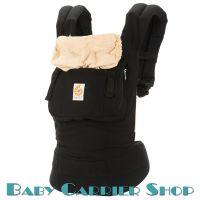 Слинг-рюкзак ERGO BABY CARRIER Эргорюкзак для переноски малышей «Black with Camel Original» [Эрго Беби BC6CANL слингорюкзак Черный/Бежевый]