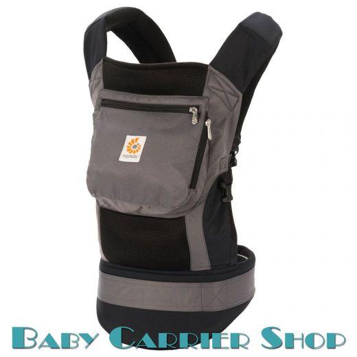 Слинг-рюкзак ERGO BABY CARRIER Эргорюкзак для переноски малышей «Black Charcoal Performance» [Эрго Беби BCP02500NL слингорюкзак Черный]