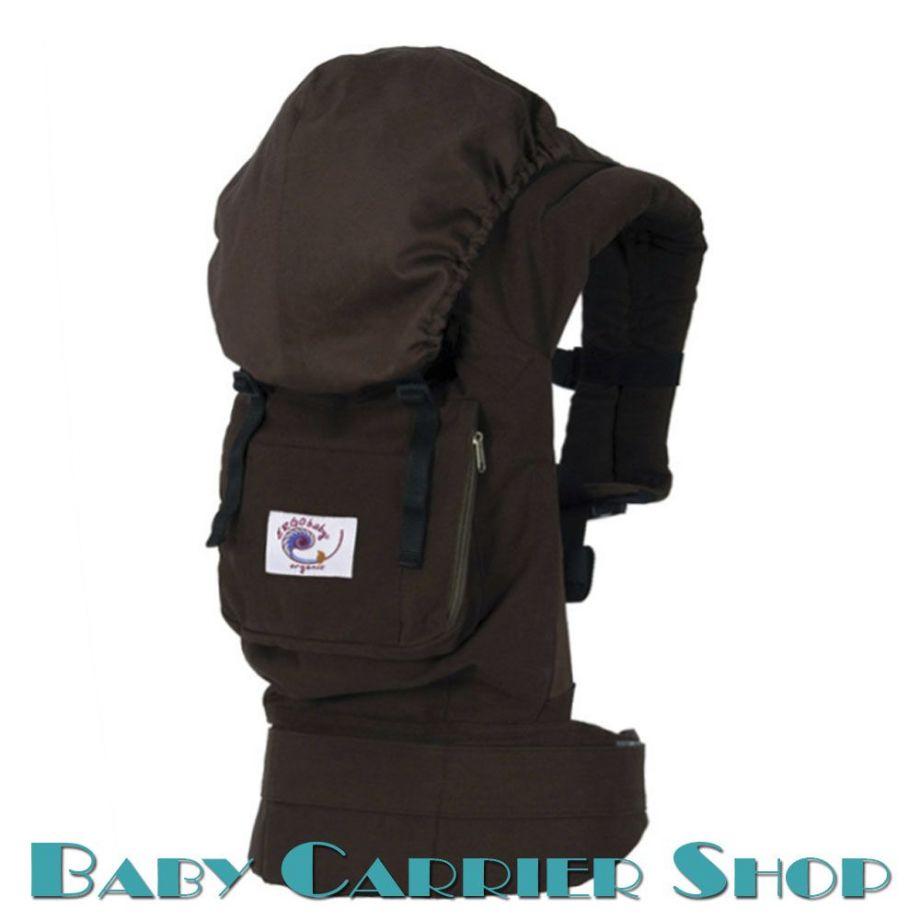 Слинг-рюкзак ERGO BABY CARRIER Эргорюкзак для переноски малышей «Dark Chocolate Organic» [Эрго Беби BC9ODCK слингорюкзак Темный Шоколад]