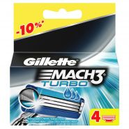 Кассеты Gillette Mach3 Turbo 4шт