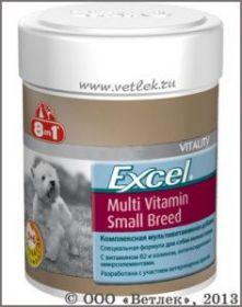 8in1 Multi Vitamin Small Breed д/соб. мелк.пор. 70таб.