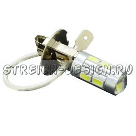 Светодиодная лампа H3 10SMD 5630 5W белая 12V