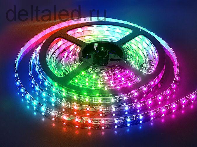 Светодиодная лента 60 5050  диодов на метр полноцветная  RGB
